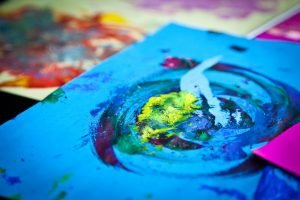Print and paint abstract artwork