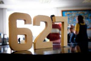 Room 627 cardboard letters
