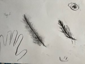 Non-dominant hand drawing